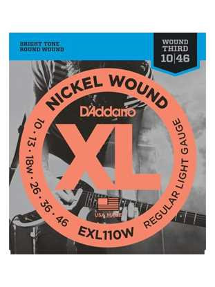 D'Addario EXL110W Regular Light, Wound 3rd
