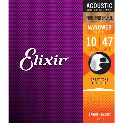 Elixir Nanoweb® Phosphor Bronze Extra Light 010-047