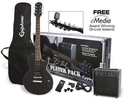 Bild på Epiphone Les Paul Player Pack ebony