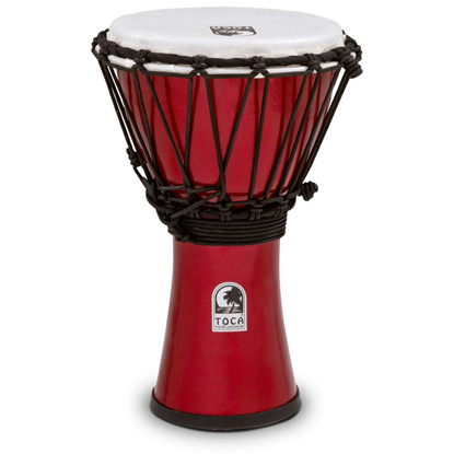"Bild på Toca Freestyle Colorsound 7"" Djembe  Metallic Red"
