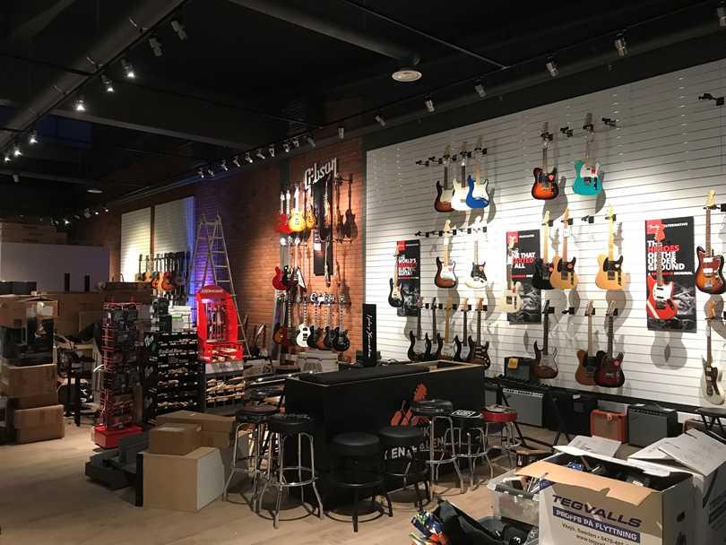 Våra nya gitarrväggar