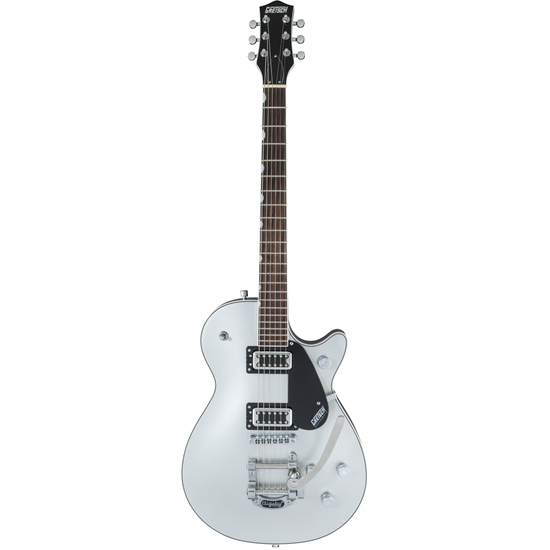 Bild på Gretsch G5230T Electromatic® Jet™ FT Single Cut with BigsbY® Black Walnut Fingerboard Airline Silver