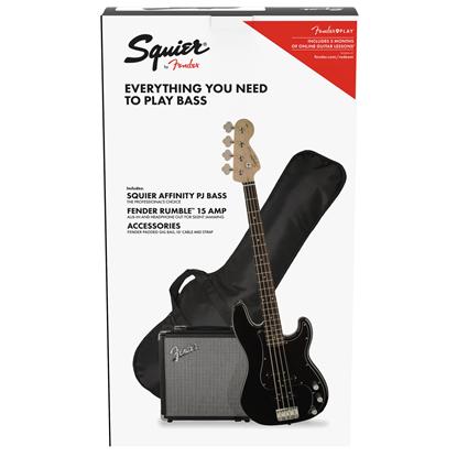 Bild på Squier Affinity Series Precision Bass PJ Pack  Black