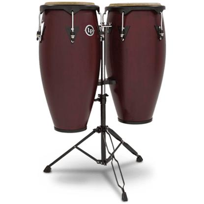 "Bild på Latin Percussion LP646NY-DW  Conga Set 10"" &  11"" Dark Wood"