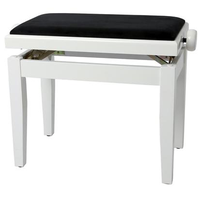 Bild på GEWA Piano Bench Deluxe Polerad Vit