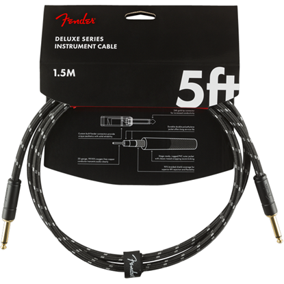 Fender Deluxe Series Instrument Cable 5' Black Tweed