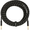 Fender Deluxe Series Instrument Cable 25' Black Tweed