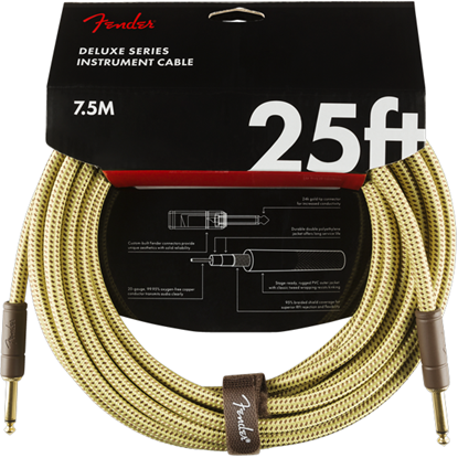 Fender Deluxe Series Instrument Cable 25' Tweed