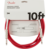 Fender Original Series Instrument Cable 10' Fiesta Red