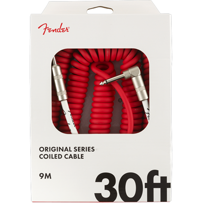 Fender Original Series Coil Cable 30' Fiesta Red