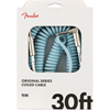 Fender Original Series Coil Cable 30' Daphne Blue