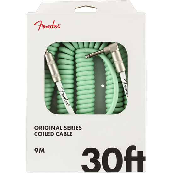 Fender Original Series Coil Cable 30' Surf Green