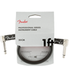 Fender Professional Series Instrument Cable 1' Black