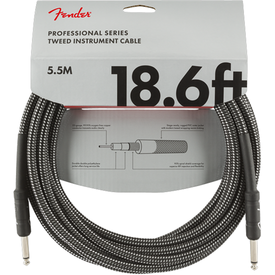 Fender Professional Series Instrument Cable 18,6' Gray Tweed