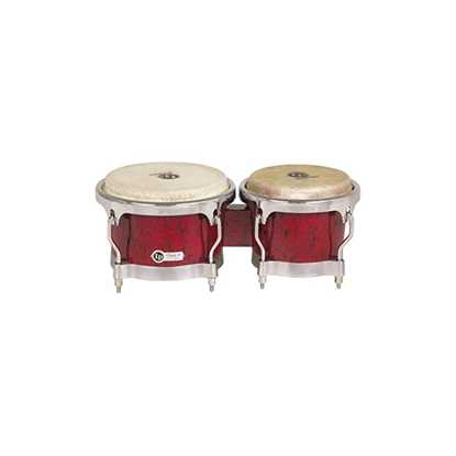 Latin Percussion Bongo Generation II Glasfiber röda