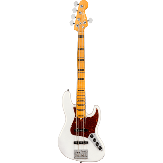 Fender American Ultra Jazz Bass® V Maple Fingerboard Arctic Pearl