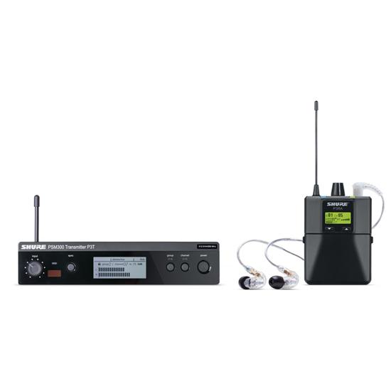 Bild på Shure PSM300 Premium K3E (606-630MHz) SE215