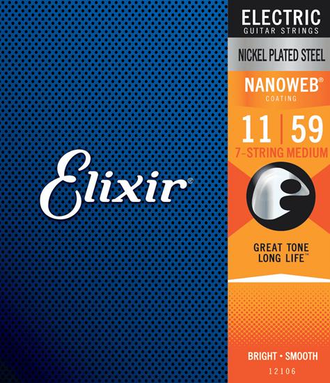 Bild på Elixir Nanoweb® 7-string Medium 011-059