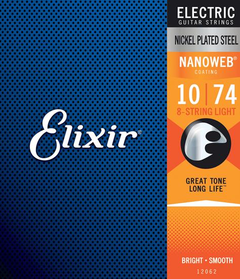 Bild på Elixir Nanoweb® 8-String 10-74 Light