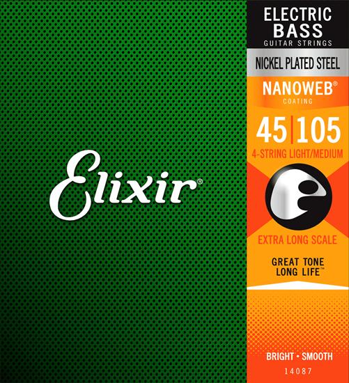 Bild på Elixir Nanoweb® Electric Bass Medium XL Scale 45-105