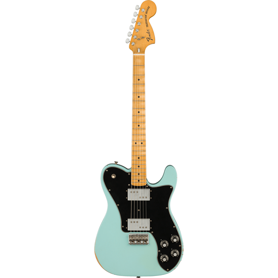 Fender Road Worn '70s Telecaster Deluxe Maple Fingerboard Daphne Blue