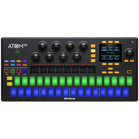 Presonus ATOM SQ Hybrid MIDI Keyboard / Pad Performance and Production Controller