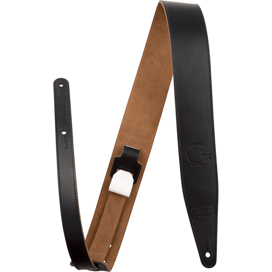 "Bild på Gretsch® G Brand Leather Strap Black  3"""