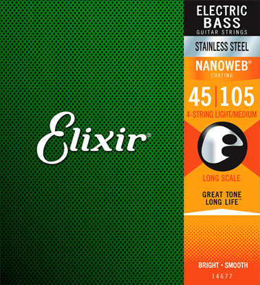 Bild på Elixir Nanoweb® Electric Bass Stainless Steel Light/Medium  Scale 45-105
