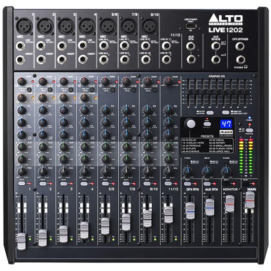 Alto LIVE 1202 Professional 12-Channel 2-Bus Mixer