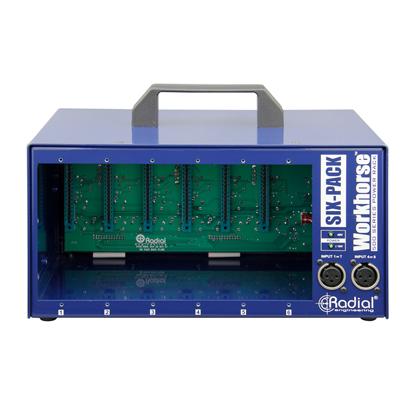 Bild på Radial SixPack Workhorse 6-Slot Power Rack for 500 Series