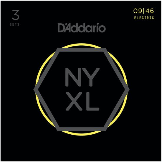 D'Addario NYXL0946-3P Super Light Top Regular Bottom