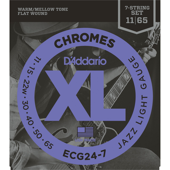 D'Addario ECG24-7 Chromes Jazz Light
