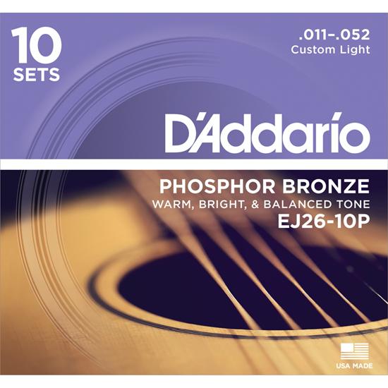 D'Addario EJ26-B25 Phosphor Bronze