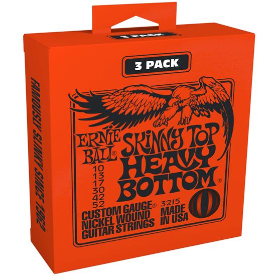 Ernie Ball 3215 Skinny Top Heavy Bottom 3-Pack