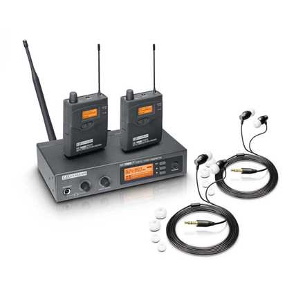 Bild på LD Systems MEI 1000 G2 Bundle 2 x mottagare 2 x hörlurar