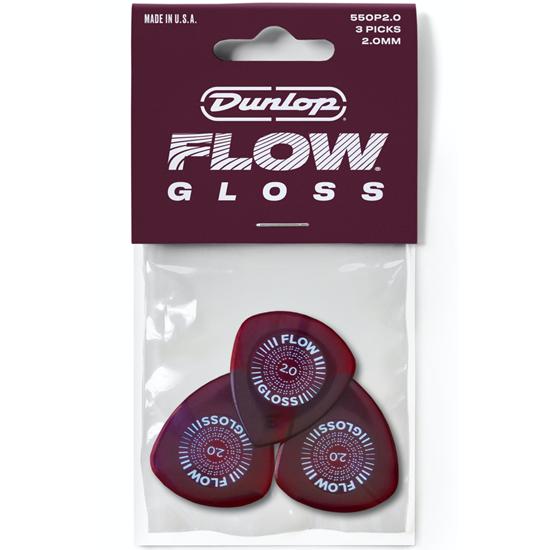 Dunlop Flow Gloss 550P200 Plektrum 3-pack
