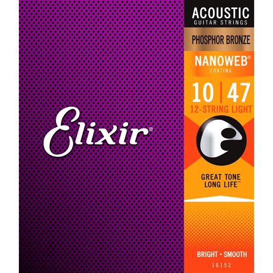 Bild på Elixir Nanoweb® Phosphor Bronze Light 010-047 12-str
