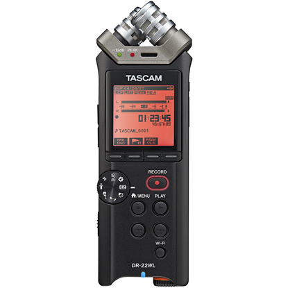 Tascam DR-22WL Handheld Audio Recorder With Wi-Fi