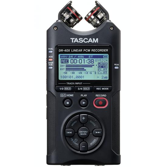 Tascam DR-40X Portable Four-Track Digital Audio Recorder