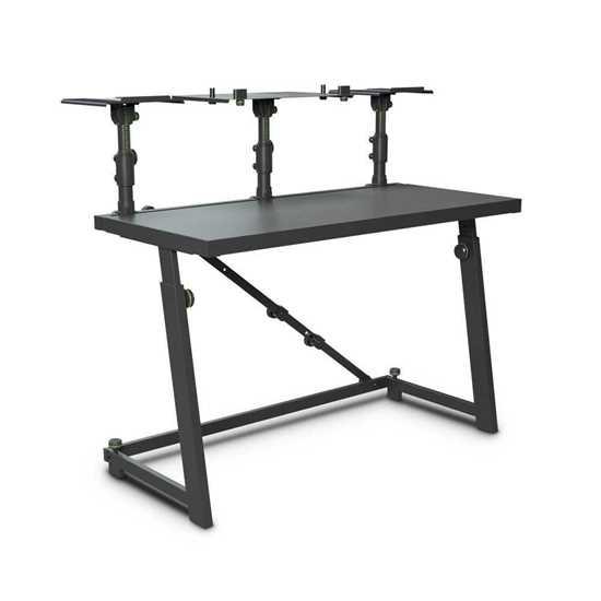Bild på Gravity FDJT 01 DJ Desk with Adjustable Loudspeaker and Laptop Trays
