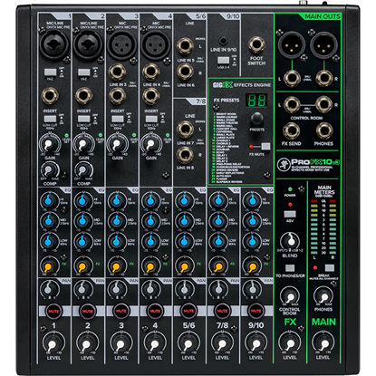 Bild på Mackie ProFX10v3 Professional Effects Mixer With USB