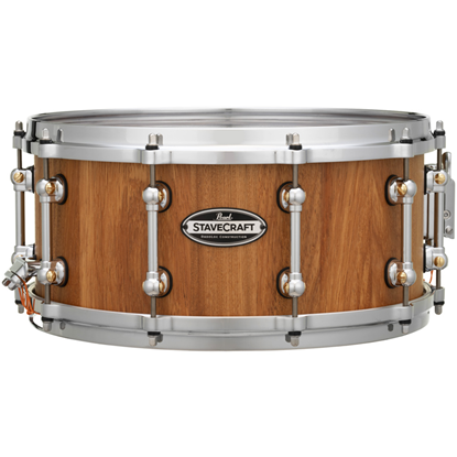 """Pearl Stavecraft Makha With Thai Oak DadoLoc 14"""" x6,5"""" Snare Drum"""