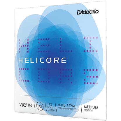 D'Addario Helicore Violin String Set 1/2 Scale Medium Tension